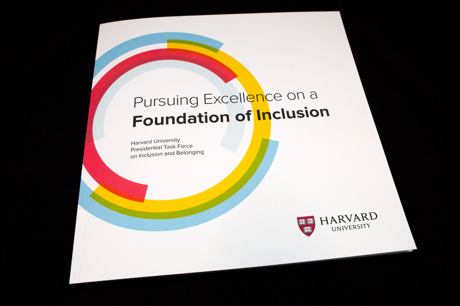 Picture of Harvard University's brochure titled Pursuing Excellence on a Foundation of Inclusion